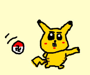 German Pikachu caught by German Pokeball