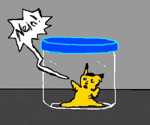 pikahitler melting in a jar