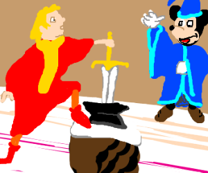 If Mickey Mouse played Merlin in Sword & Stone