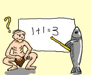 Gollum is confused by fish