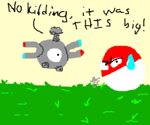 Magnemite brags about his father's screw