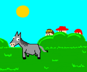 Donkeys don't expect Spanish inquisition