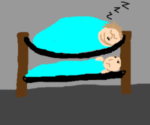 The problem with bunk beds and obese people.