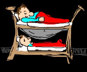 Wife pleased w/bunk bed sleeping arrangements