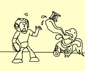 Megaman Angry at Lickitung