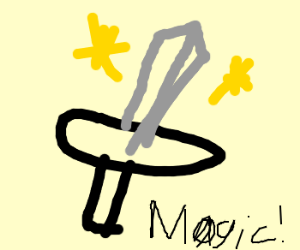 A magic sword