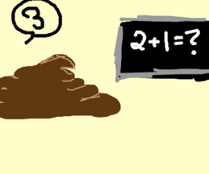 Feces learns basic math