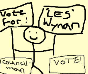 "Vote ""LES' Wynan for Councilman"