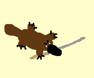 A very dangerous platypus.
