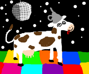 Mad cow in a discoclub
