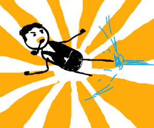 Daniel Plainview blocks hadoken with jump kick