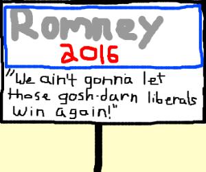 Romney's new slogan targets the bumpkin crowd.