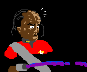 Worf Has A Purple Space Bazooka Drawception