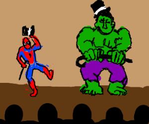 Spidey & Hulk on Broadway!