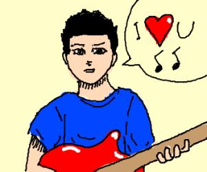 red-guitar dude sings he loves you