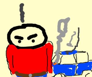 Man's car broke down