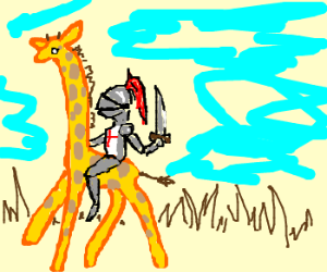 knight on a giraffe