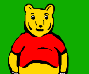 Pooh the Bear as a dressed Grizzly