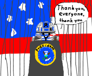 R2D2 becomes president