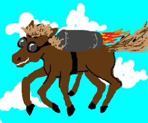 Jetpack Horse has way too many legs!