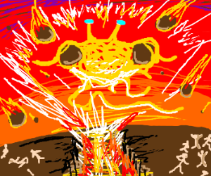 Armageddon with spaghetti & meatballs.