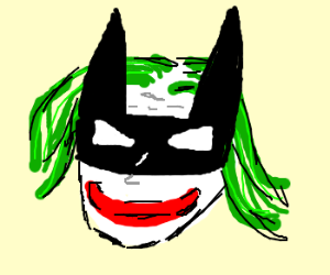 Joker with Batman eye mask.
