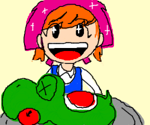 Cooking Mama serves Yoshi