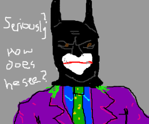 Ledger Joker wears Batman's mask - comes.