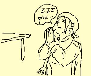 Overtired mom begs for sleep