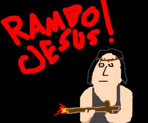 Rambo Jesus brings the hurt