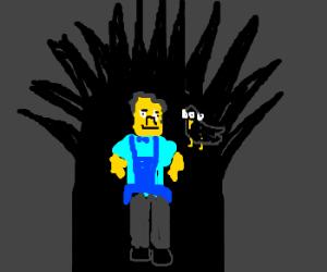 Moe Szyslak in Game of Thrones with 3eye raven