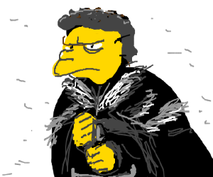 Moe from the simpsons is now king of Westeros