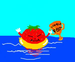 world's best strawberry float