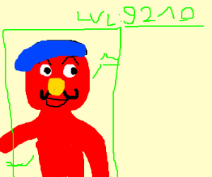 Elmo turned french - power lvl over 9000