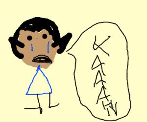 "Spock cries and yells ""KAAAHN!"""