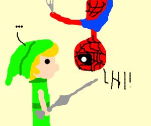 Spiderman meets Link
