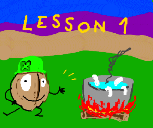 Leprechaun walnut teaches how to cook maggots