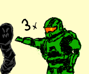 Master Chief hits a triple bogey