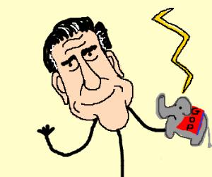 Sinister forces use Romney to destroy GOP.