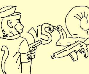 Nazi monkey vs assault snails