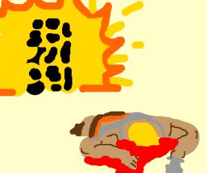 exploding building, he-man dies