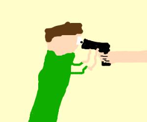 Looking Down the Barrel of a Gun - Drawception