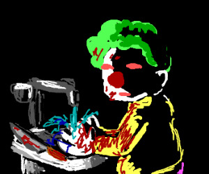 Clown washes himself clean of latest victim
