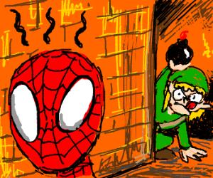 Link tingles Spiderman's spider-sense