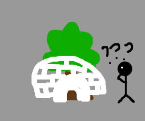 there is a tree in my igloo?!?!