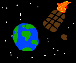 A chocolate meteor is headed for the Earth!