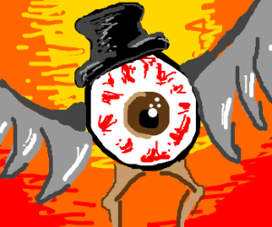 Sauron real eye is a vulture with cylinder