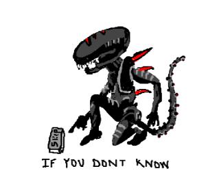 Black Alien orders you to skip hard captions