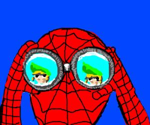 Spiderman spies on Link of Zelda