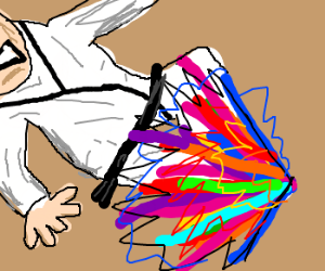 Hyper rainbow karate kick